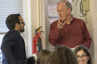 BBC journalist Hugh Sykes visits Woodhouse College