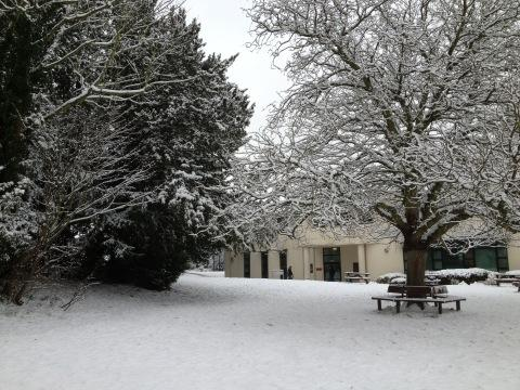 Woodhouse in the snow