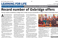 Woodhouse Oxbridge students in the News