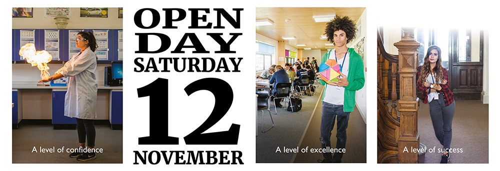 Open Day -  Saturday November 12th 2016
