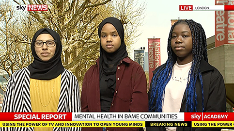 Students make Sky news